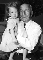 Harry Warner with granddaughter, Cass Warner